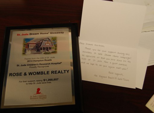 Rose & Womble Agents Helped Sell Tickets to 2014 St. Jude Dream Home