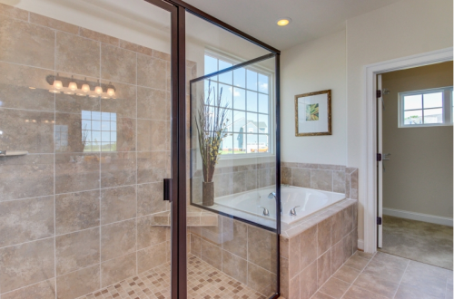 Master bath in Grassfield Meadows