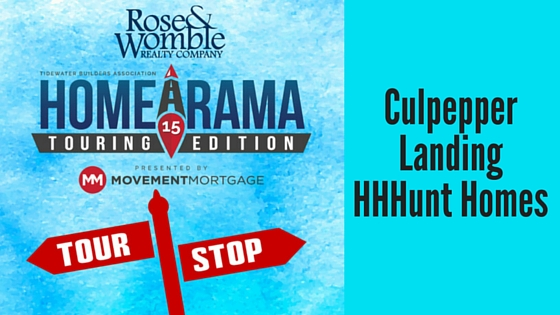 #RWNewHomes Homearama Tour Stop Culpepper Landing HHHunt Homes