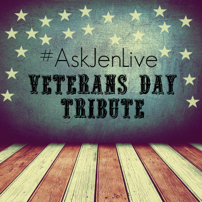 #askjenlive veterans day tribute at saddlebrook estates