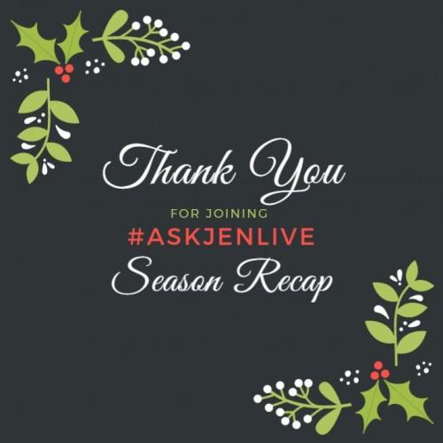 ask jen live season recap